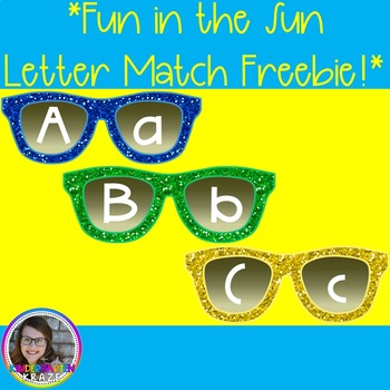 Sunglasses Alphabet Uppercase and Lowercase Match!