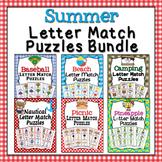 Summer Letter Match Puzzles Bundle
