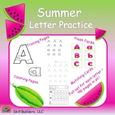 Summer Letter Handwriting and Recognition Practice - Occupational Therapy