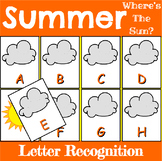 Summer Letter Recognition Center or Whole Group Game
