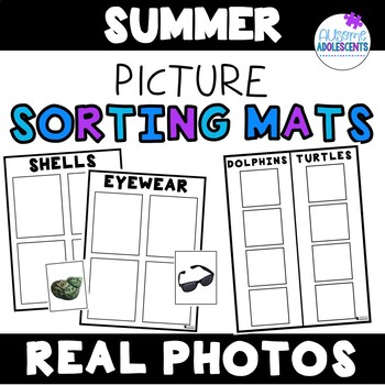 Summer Leveled REAL PHOTO Sorting Mats