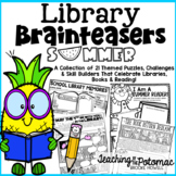 Summer Library Brainteasers - End of the Year Library Lessons