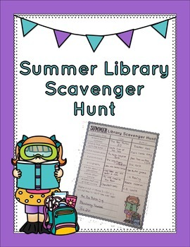 Summer Library Scavenger Hunt