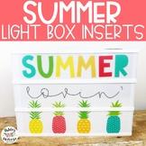Summer Light Box Inserts- Heidi Swapp or Leisure Arts