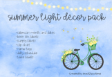 Summer Lights Decor Pack with editable labels