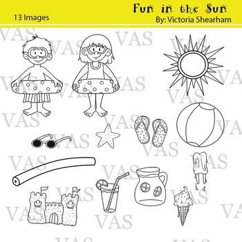 Summer Line Clip Art clipart
