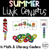 Link Task Cards- Summer themed