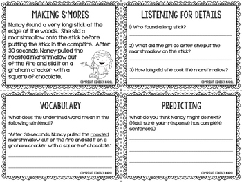 Summer Listening for Details, Vocabulary, and Predicting
