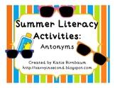 Summer Literacy Activities: Antonyms