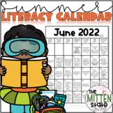Summer Literacy Activities Calendar