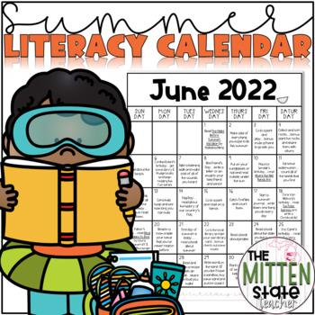 Summer Literacy Activities Calendar!