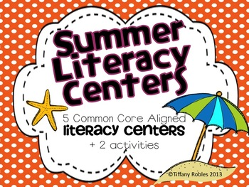 Summer Literacy Centers: Common Core Centers