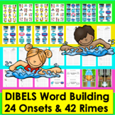 Summer Activities :Swimming!-Onset Rime Word Building-Level 1-Summer School
