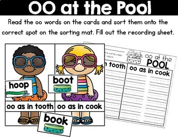 Summer Literacy Centers for First Grade