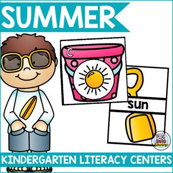 Summer Literacy Centers for Kindergarten