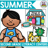 Summer Literacy Centers for Second Grade