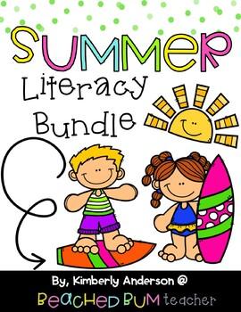 BUNDLE: Summer Literacy / Grammar / Language Arts Centers (5 Products)