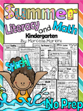 PHONICS AND MATH worksheets for SUMMER 80+ pages  (KINDERGARTEN)