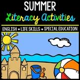 Summer Literacy - Special Education - Life Skills - Print & Go - Reading - ELA