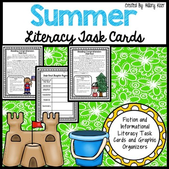 Summer Literacy Task Cards