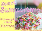 Summer Literacy and Math Centers for Kindergarten (Bundled)