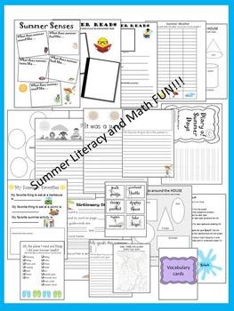 Summer Literacy and Math Fun Activities