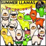 Summer Llamas Clip Art Set {Educlips Clipart}