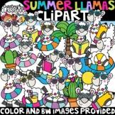 Summer Llamas Clipart {Summer Clipart}