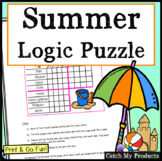 Logic Puzzle for 4th Graders Summer