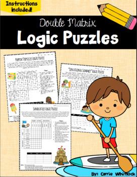 Summer Logic Puzzles -  Double Matrix