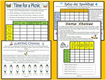 Summer Logic Puzzles Pack
