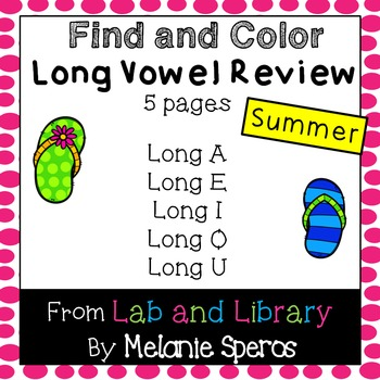 Summer Long Vowel Review: Find and Color No Prep Printables