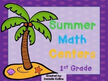 Summer Lovin' 1st Grade Math Pack (9 CCSS Centers)