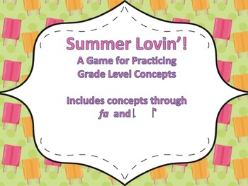 Summer Lovin':  A Review Game for Fourth Grade (tom-ti & fa)