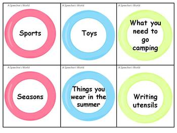 Summer Lovin' Categories