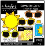 FREE Summer Lovin' Clipart [Ashley Hughes Design]