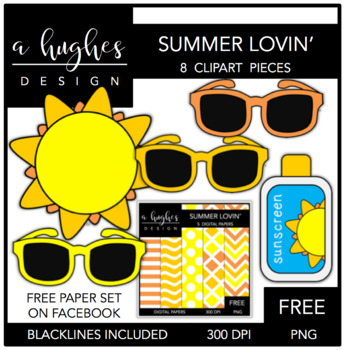 FREE Summer Lovin' {Graphics for Commercial Use}