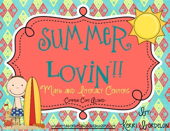 Summer Lovin'! Math and Literacy Centers (Common Core Aligned)