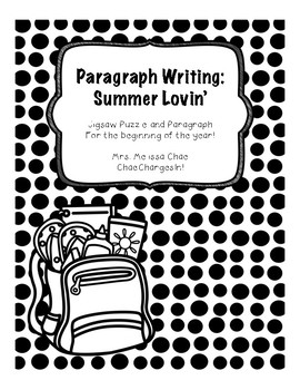 Summer Lovin' Paragraph Writing