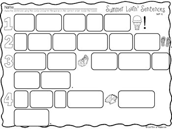Summer Lovin' Sentences for the End of the Year