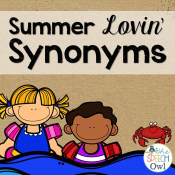 Synonym Matching Game and Worksheets