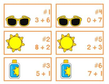 Summer Lovin' Write the Room {addition & subtraction}