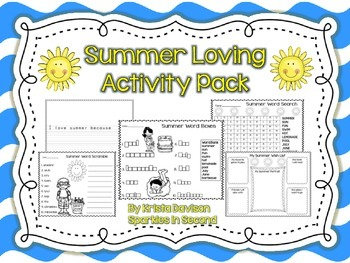 Summer Loving Activity Pack
