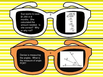 Summer Loving - Task Cards - Review of 4th grade Math