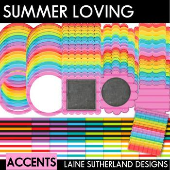 Summer Loving (Volume 2) Digital Paper and Accent Set
