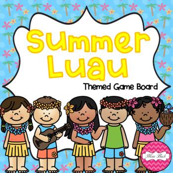 Summer Luau Themed Game Board