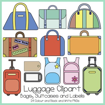 Summer Luggage Clipart