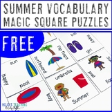 FREE Summer Vocabulary Literacy Center | Use with Beach Cl
