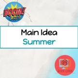 Summer Main Idea Boom Cards™️ Speech Therapy