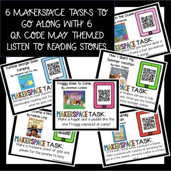 Summer Makerspace STEM Reading Listening Comprehension Creation Task Cards